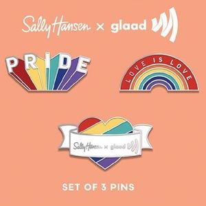 Sally Hansen Pride 2020 Limited Enamel Pin Set